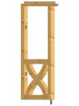 Abstützung Seitenwand mit Andreaskreuz gebogen