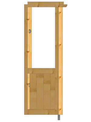 Abstützung Seitenwand gerade mit Holzfüllung