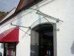 Edelstahl Glas Haustürvordach Zuerich